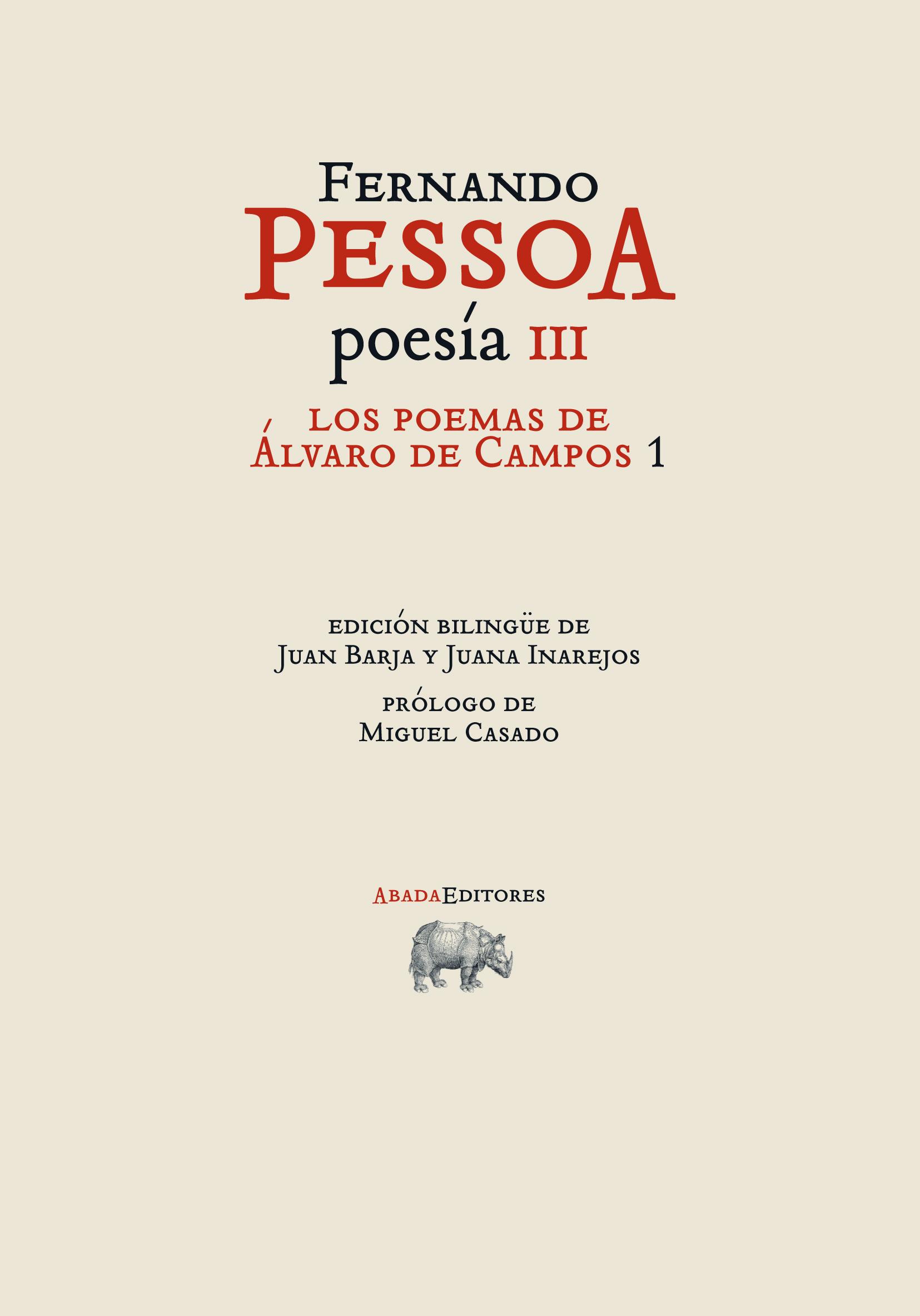 Descargar POESIA III: LOS POEMAS DE ALVARO DE CAMPOS 1