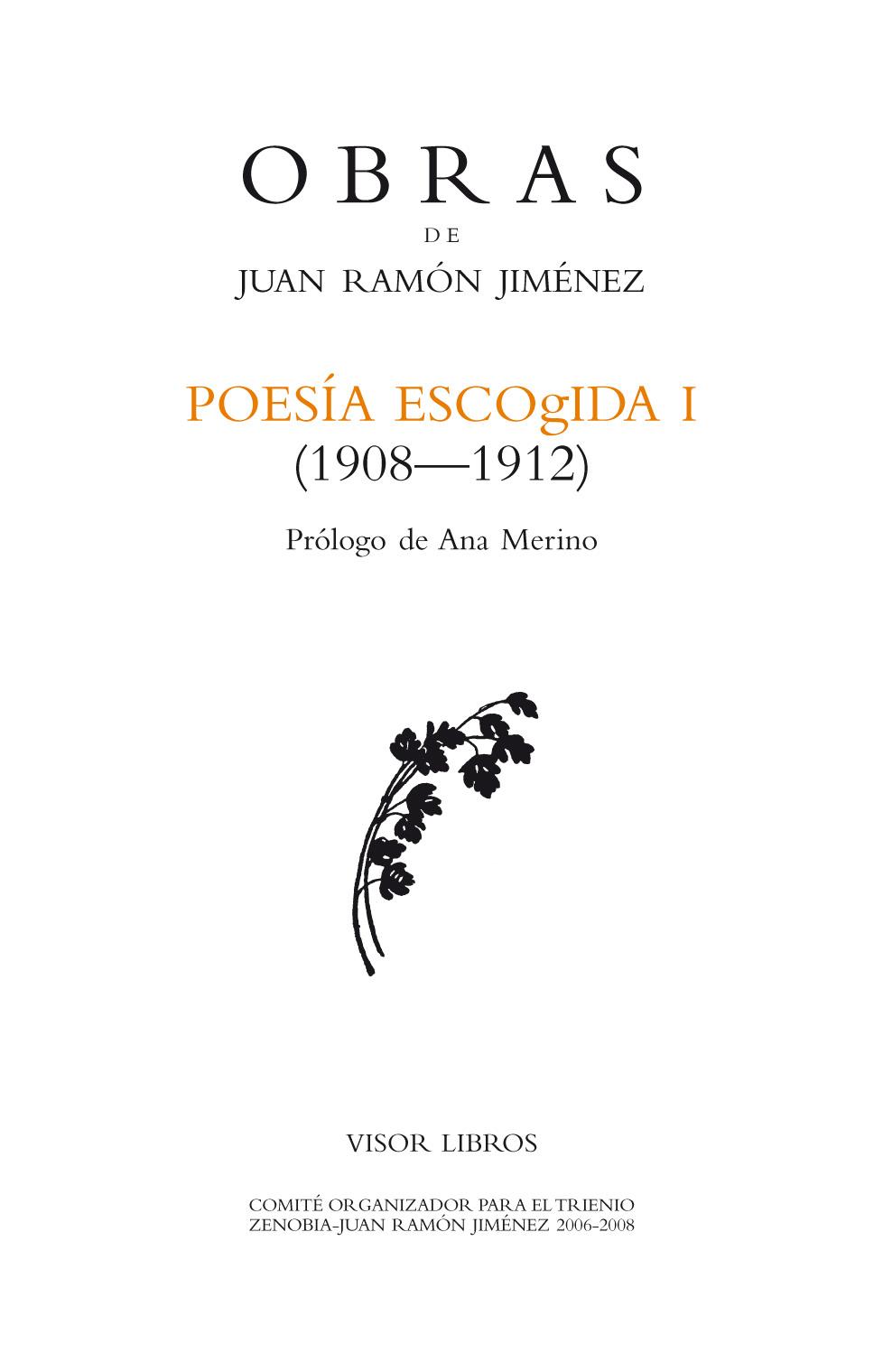 Descargar POESIA ESCOGIDA I (1908-1912)