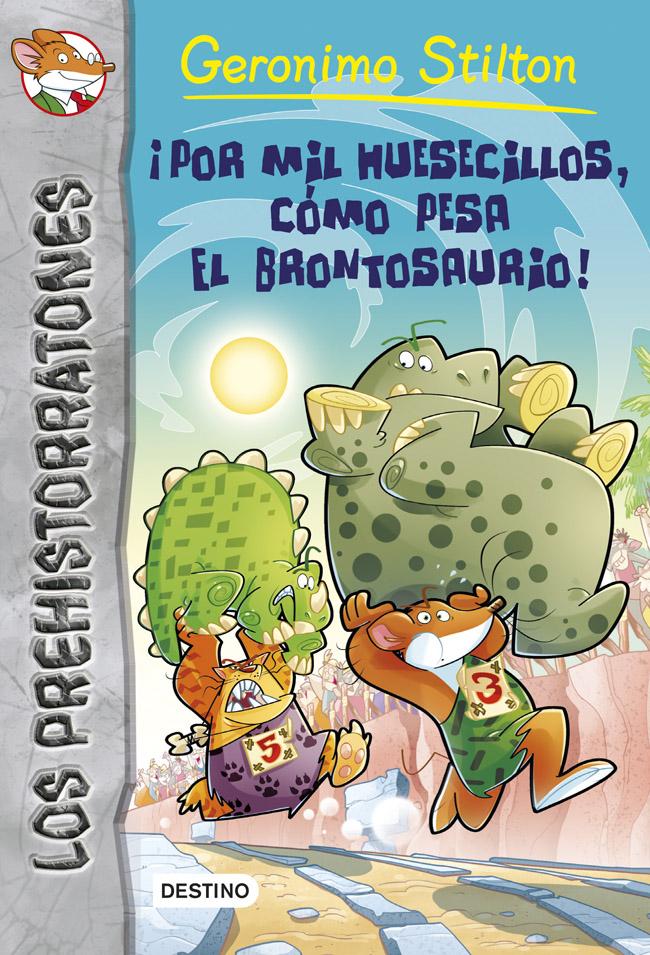 Descargar ¡POR MIL HUESECILLOS  COMO PESA EL BRONTOSAURIO! PREHISTORRATONES 6